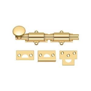 """6"""" Surface Bolt, HD - PVD Polished Brass Product Image"""