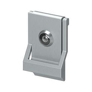 Deltana - Modern Door Knocker, UL Listed Viewer, Solid Brass - Brushed Chrome