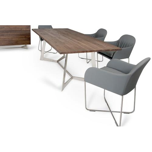 Modrest Wharton Modern Dark Aged Oak Dining Table