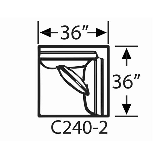 Capris Furniture - Sectional Component-Corner Chair
