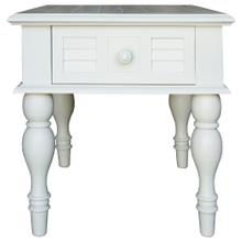 Lamp Table, Available in Cottage White Finish Only.