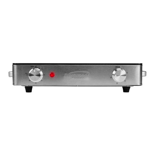 Brentwood - Brentwood Select TS-381 1200w Single Infrared Electric Countertop Burner with Timer, Stainless Steel