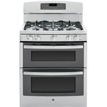 "GE Profile™ Series 30"" Free-Standing Gas Double Oven with Convection Range"