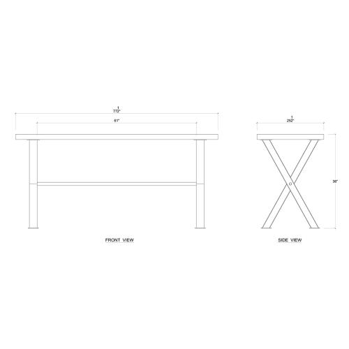 Laval Counter Table