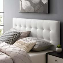 View Product - Lily Full Upholstered Vinyl Headboard in White
