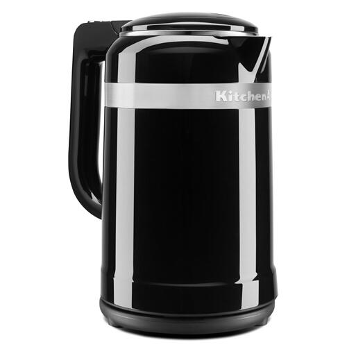 1.5 Liter Electric Kettle with dual-wall insulation - Onyx Black
