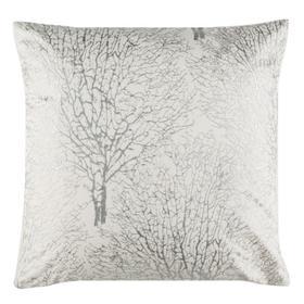 Galena Pillow - White/silver