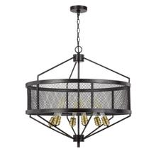 60W X 6 Halle Metal Chandelier (Edison Bulbs Are Not Included)