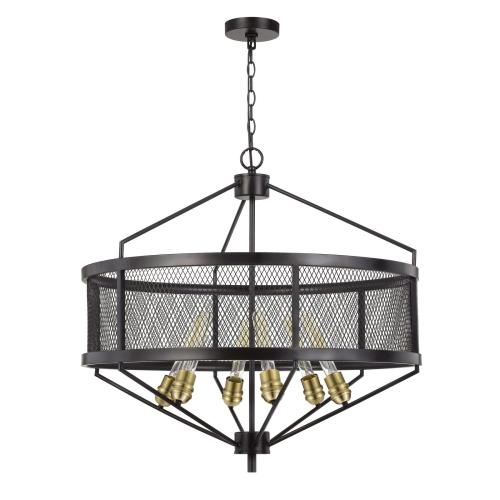 Cal Lighting & Accessories - 60W X 6 Halle Metal Chandelier (Edison Bulbs Are Not included)
