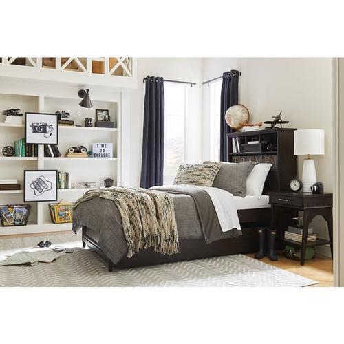 Chelsea Square Raisin Twin Bookcase Bed