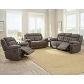 Anastasia Grey 3 Piece Manual Motion Set(Sofa, Loveseat & Chair)