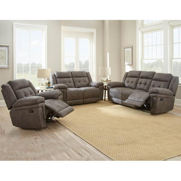 Anastasia Grey 3 Piece Manual Motion Set(Sofa, Loveseat & Chair)