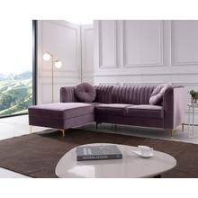 Modrest Rachel Modern Purple Velvet Sectional Sofa