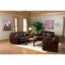 See Details - LOVESEAT/TOBACCO FINISH 65''Lx38-1/2''Wx37''H