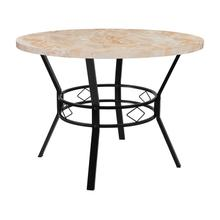 "Tremont 42"" Round Dining Table in Quartz Marble-Like Finish"