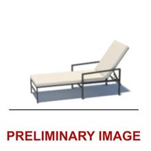 Outdoor X-Back Metal Chaise Lounge