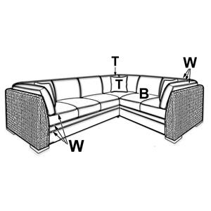 Capris Furniture - 724 SECTIONAL PIECES