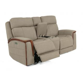 Snyder Power Reclining Loveseat with Console & Power Headrests