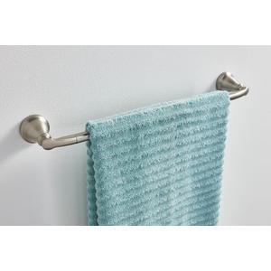 "Hilliard brushed nickel 24"" towel bar"