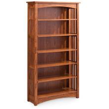 See Details - Mission Open Bookcase, 1 Adjustable Shelf