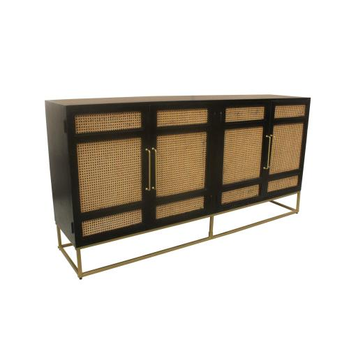 Port Royal 4 Door Wood and Metal Sideboard