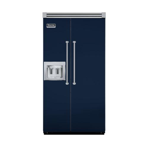 "Viking - Viking Blue 42"" Quiet Cool™ Side-by-Side with Dispenser - VISB Tru-Flush™ (42"" wide)"