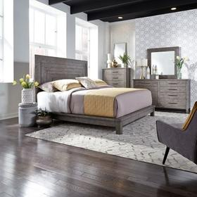 King California Platform Bed, Dresser & Mirror, Chest