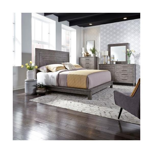 See Details - King California Platform Bed, Dresser & Mirror, Chest
