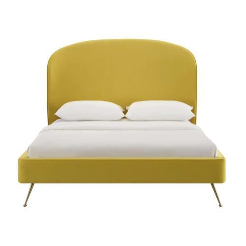 Vivi Burnt Gold Velvet Bed in Queen