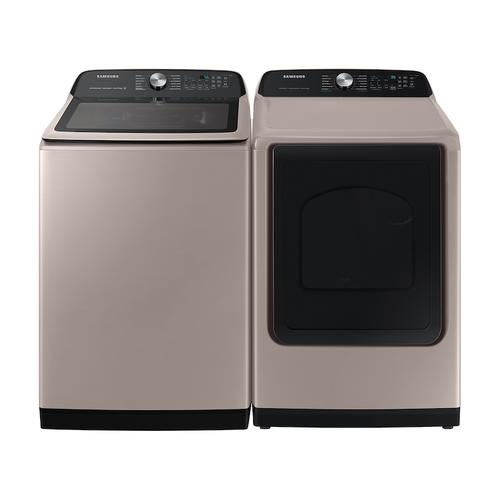 Samsung - 7.4 cu. ft. Smart Gas Dryer with Steam Sanitize+ in Champagne