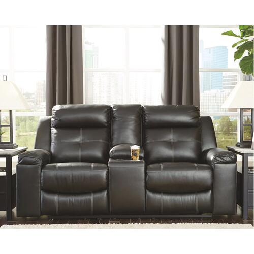 8210594  Kempten Reclining Loveseat With Console