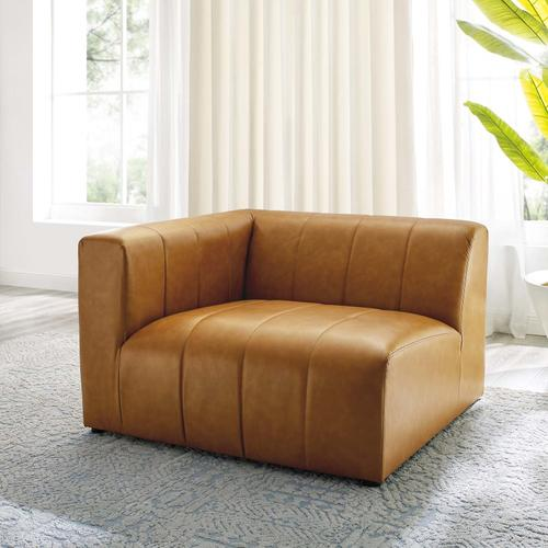 Modway - Bartlett Vegan Leather Left-Arm Chair in Tan