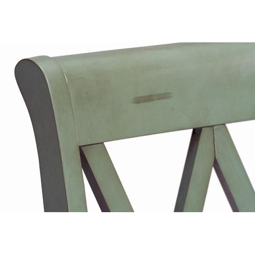 Standard Furniture - Vintage Distressed 2-Pack Green Side Chairs