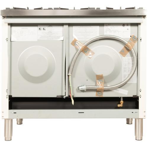 40 Inch Antique White Dual Fuel Liquid Propane Freestanding Range