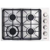 30 Inch Professional Drop-in Gas Cooktop With Four Burners In Stainless Steel