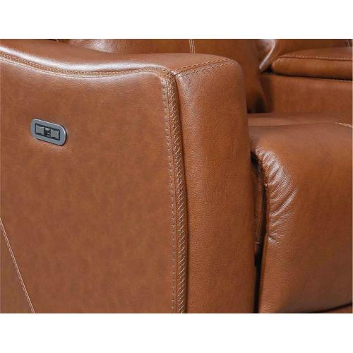 Natalia Dual Power Console Loveseat Recliner-Coach
