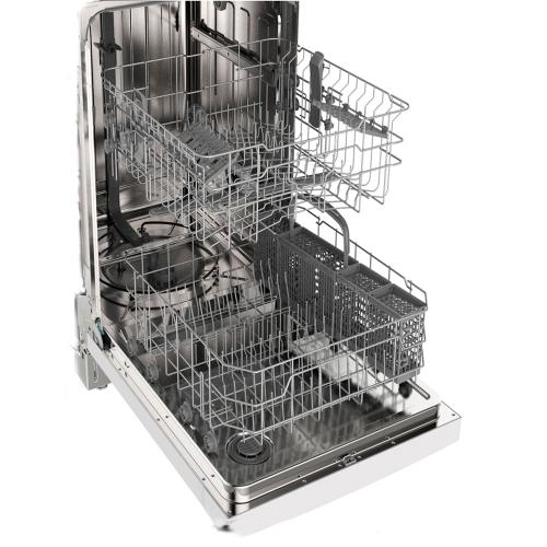 "GE 24"" Built-In Stainless Steel Tall Tub Dishwasher White GBF630SGLWW"