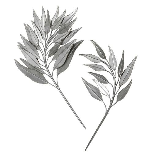 Palm Branches Metal Wall Decor, S/2