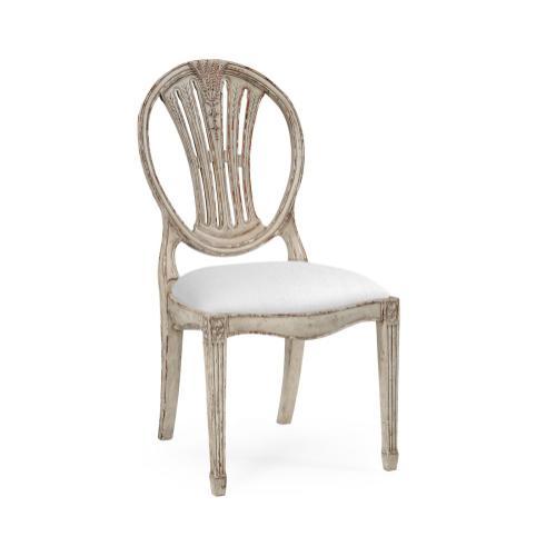 Hepplewhite wheatsheaf side chair (Grey)