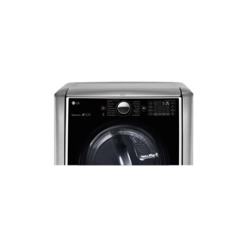 LG - 9.0 cu. ft. Large Smart wi-fi Enabled Gas Dryer w/ TurboSteam™
