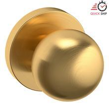 See Details - Lifetime Satin Brass 5041 Estate Knob with 5046 Rose