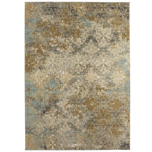 "Touchstone Moy Willow Grey 3' 6""x5' 6"""
