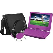 "9"" Portable DVD Player Bundles (Purple)"