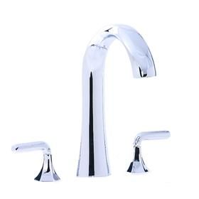 Hexa - 3pc Hi-Arch Roman Tub Filler Trim - Polished Chrome