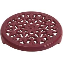 "Staub Cast Iron 9"" Round Lilly Trivet, Grenadine"