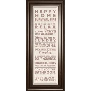 """""""Survival Tips 2 Sepia"""" By The Vintage Collection And Mossy Oak Native Living Framed Print Wall Art"""