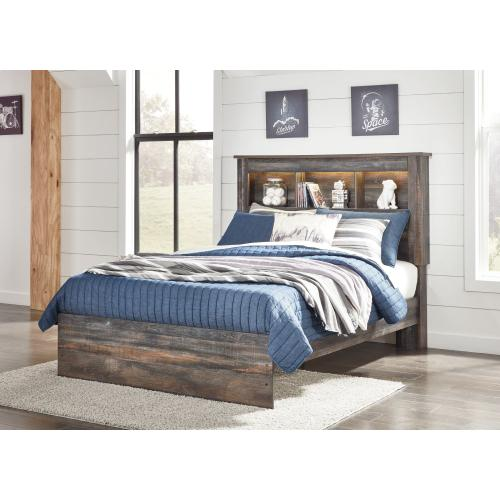 Ashley - Full Bookcase Bed With Mirrored Dresser and 2 Nightstands