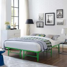 View Product - Horizon Queen Stainless Steel Bed Frame in Green