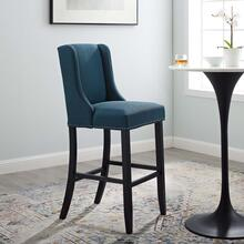 Baron Upholstered Fabric Bar Stool in Azure