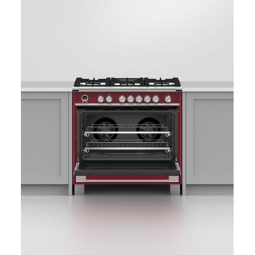 """Fisher & Paykel - Dual Fuel Range, 36"""", 5 Burners, Self-cleaning"""